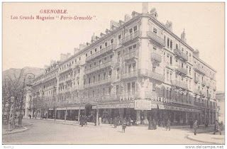 Grands magasins Paris-Grenoble Angle Gambetta Rue Clot Bey