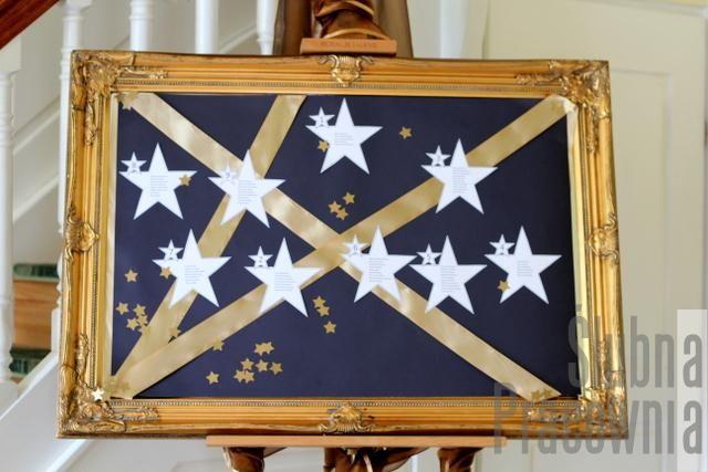 tablica z usadzeniem gości Gwiezdne Wojny