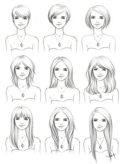 drawing for girls | art, drawing, girl, girls , hair - inspiring picture on Favim.com
