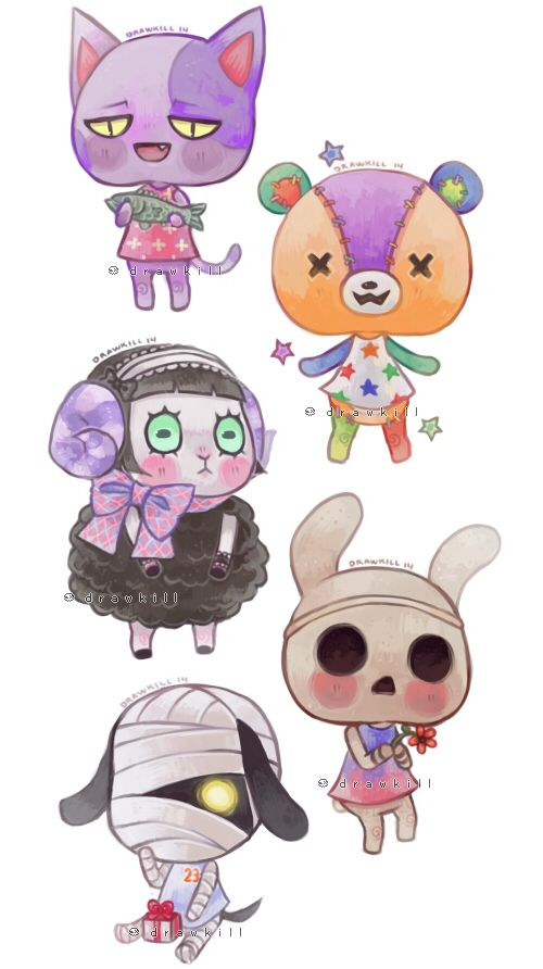 Some Animal Crossing townies for stickers for the con (and probs later on the internet).