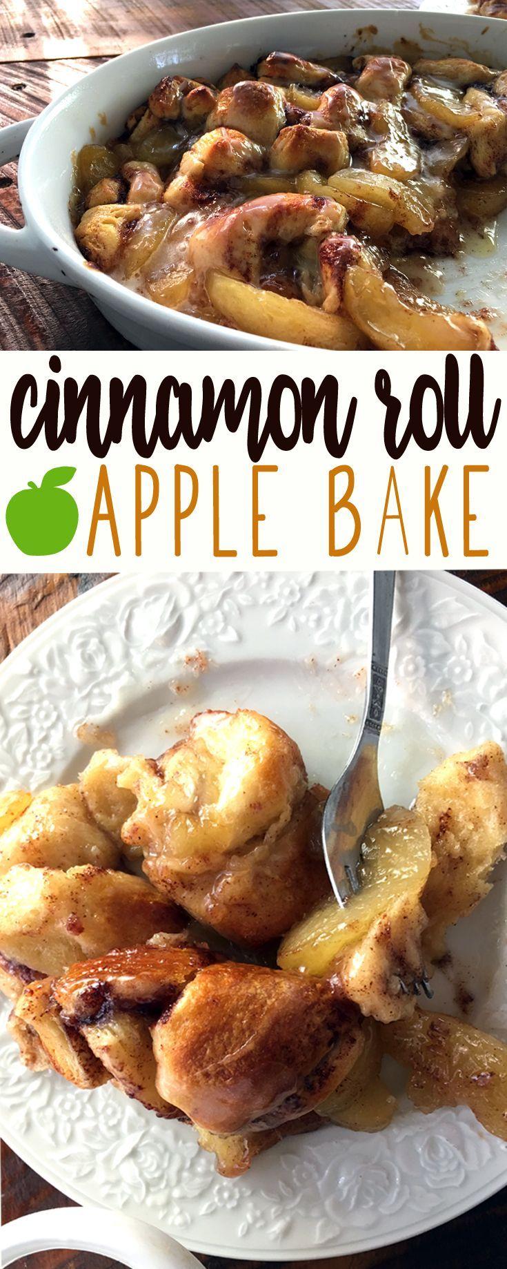 Easy Dessert Recipe for Cinnamon Roll Apple Bake