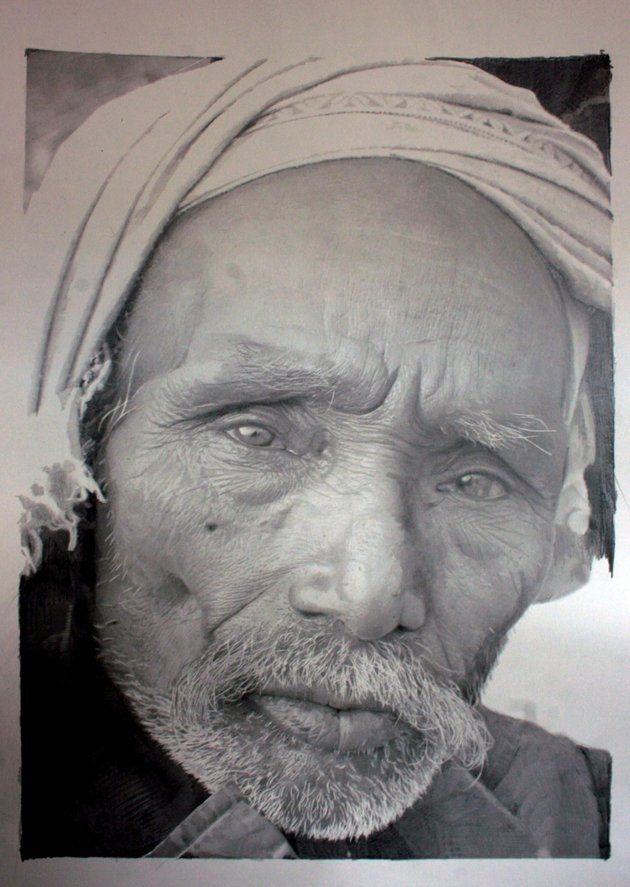 """""""hyperrealism"""" pencil drawing (yes, drawing!)  how on earth does he capture the eyes???"""