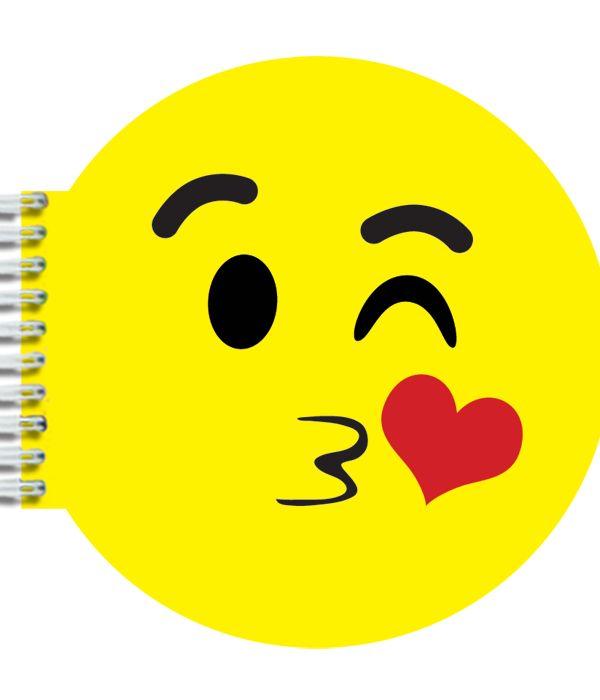 KISSY EMOJI NOTEBOOK - http://www.shopb2.com/shop/womens-accessories/b2-kissy-emoji-notebook/ - #shopb2 #funny #back2school #nerdy #quirky #cute