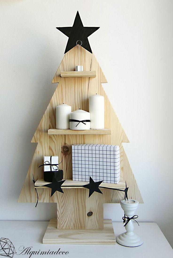 M s de 25 ideas fant sticas sobre rboles de navidad de - Arbol de navidad artesanal ...