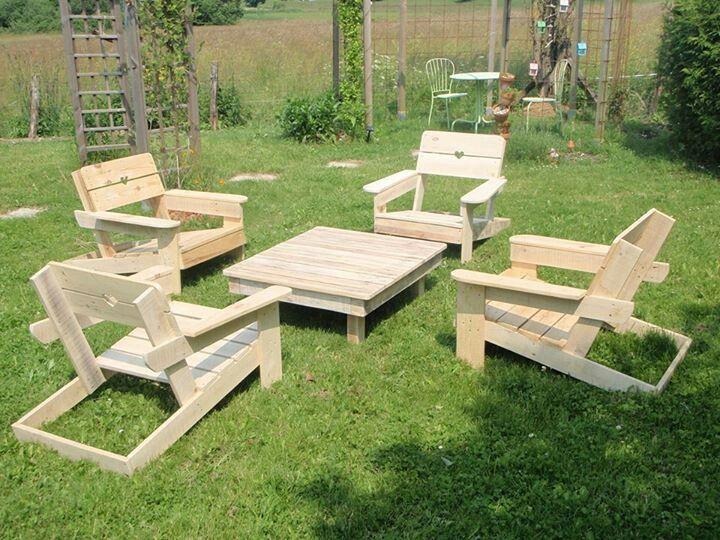 Diy garden set from pallets