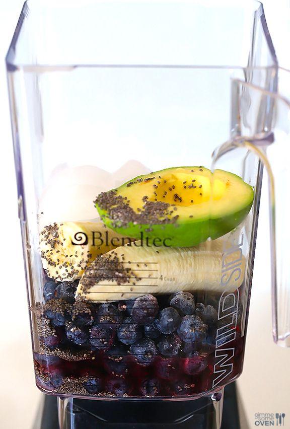 Brain Power Smoothie (Blueberry Avocado Smoothie) | Gimme Some Oven