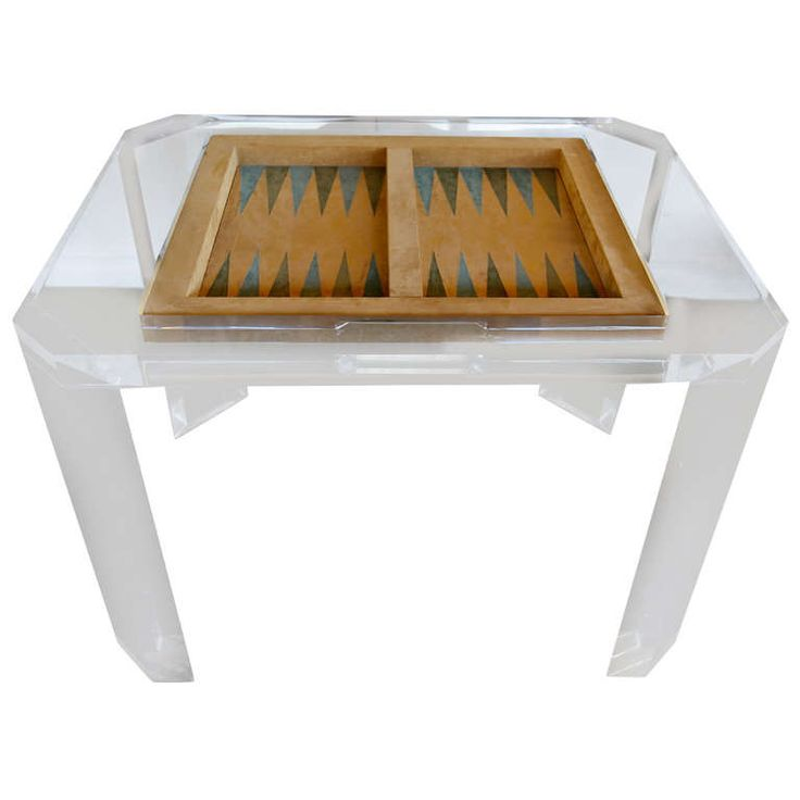 Lucite Backgammon Game Table By Charles Hollis Jones
