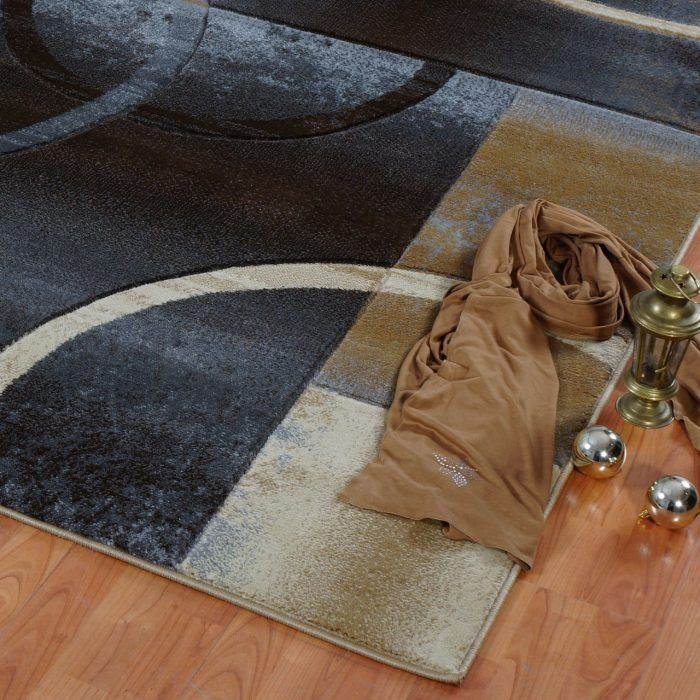 Black Grey Geometric Area Rug #black #grey #area #rug #home #decor #interior #idea #new #designer #beige #carpet