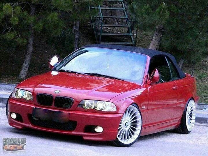 BMW E46 3 series red cabrio
