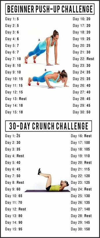 Thriving 30 Day Challenges // Push-Ups & Crunch Challenge