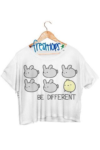 So freaking adorable!!!!!!                                                        Be different Crop Shirt - Fresh-tops.com