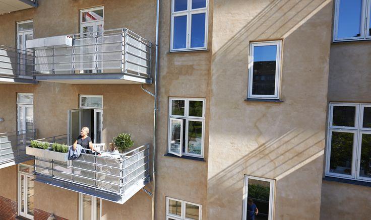 Wilkenbo, Frederiksberg. Renovering og altaner af Pålsson Arkitekter.