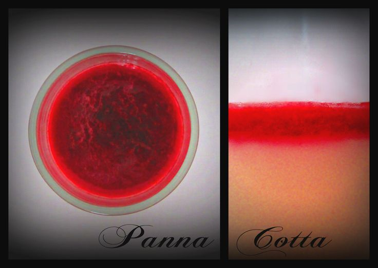 Panna Cotta with sour cherry top