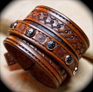 Mens Brown Leather Bracelets