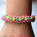 Rainbow Loom® Dubbele Vlecht Armband