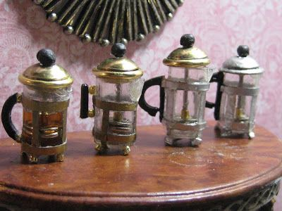 Studio E: How to make a FRENCH PRESS for your doll's house.