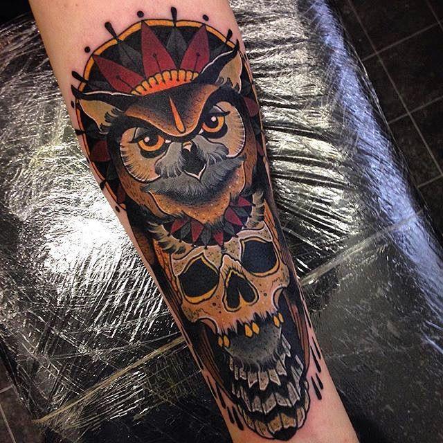 Neo Traditional Owl Tattoo | Neo Traditional Owl Tattoos tattoo owltattoo artist on instagram