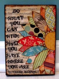 Love the flower....easy to decoupage onto a canvas for wall art....make it big, out of vinyl for wall art on the edge of a wall.  So many possibilities!