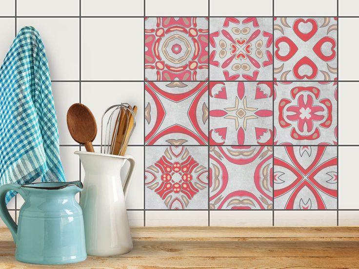 Idée de décoration   Film adhésif décoratif carreaux - Décorer cuisine   Design Strawberry Cheese Tile   10x10 cm (9 pièces): Amazon.fr: Cuisine & Maison
