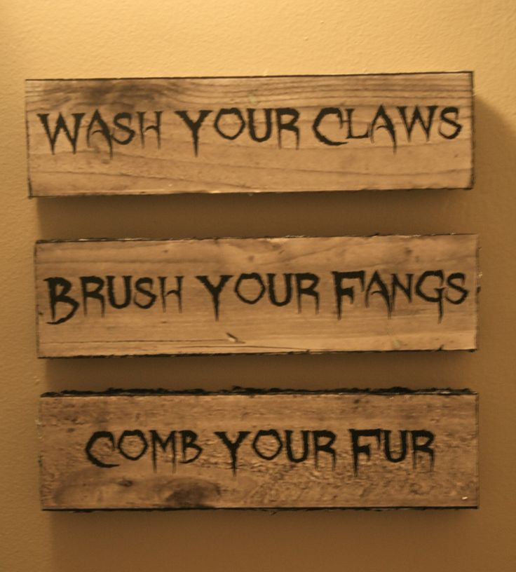 """Love these Halloween signs for your bathroom! """"Wash Your ..."""