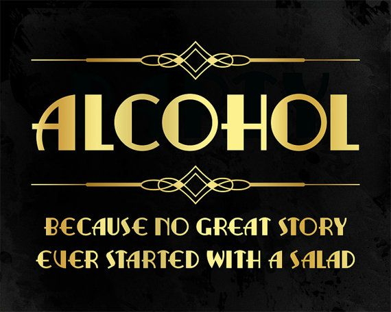 Bar decor printable alcohol sign. Party like by PartyGraphix