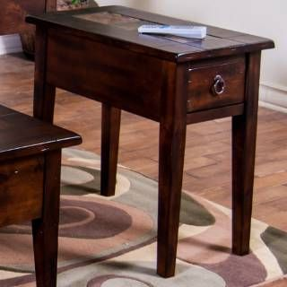 Check Out The Sunny Designs 3176DC CS Santa Fe Chair Side Table In Dark  Chocolate