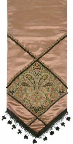 Jennifer Taylor 2729-545054 Table Runner, 16-Inch by 90-Inch, Cover 40-Percent Polyster and 60-Percent Rayon by Jennifer Taylor. $134.41. Home decor brings classic style and luxurious comfort to the home. Table runner cover 40-percent polyster and 60-percent rayon. With braid and tassel trim. Jennifer Taylor Table Runner, 16--inch by 90-inch, Cover 40-percent Polyster and 60-percent Rayon, with braid and tassel trim, Classic Style. Save 41% Off!