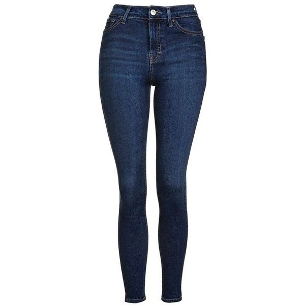 Women's Topshop Jamie High Rise Ankle Skinny Jeans ($70) ❤ liked on Polyvore featuring jeans, pants, bottoms, calças, pantalones, high waisted jeans, blue jeans, highwaist jeans, high rise jeans and topshop jeans