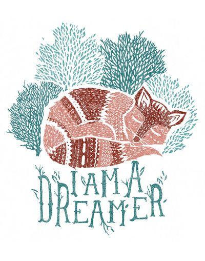 Dreaming Fox Art Print