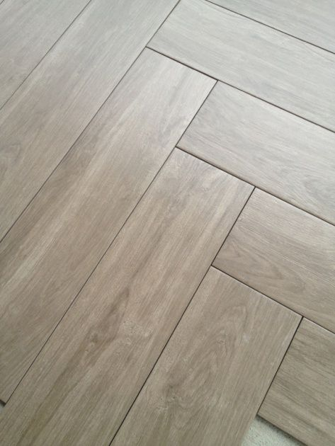 Herringbone Tile  floor in grayish/ woodish