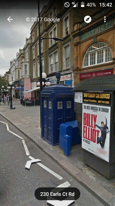 Die TARDIS in Google Maps (Earls Court)
