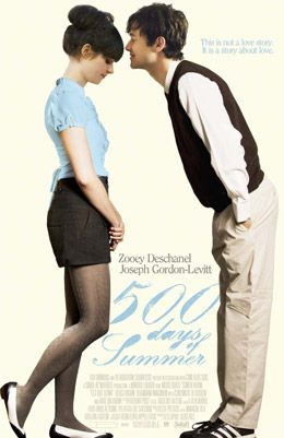 500 Days of Summer: Movie Posters, Joseph Gordon Levitt, Favorite Movies, Summer, 500 Days, Films, Zooey Deschanel, 500Days