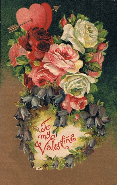 Close in Heart ~ original Victorian Valentine's day postcard