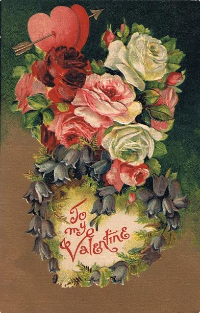 Close in Heart ~ original Victorian Valentine's day postcard