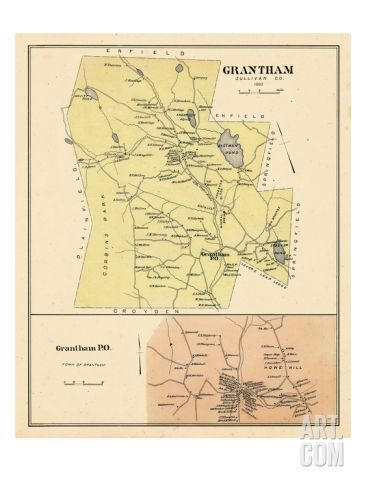 1892, Grantham, Grantham Town, New Hampshire, United States Giclee Print at Art.com