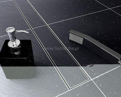 Odpływ liniowy Rea Neo 700   odpływ wykonany w całości ze stali nierdzewnej AISI 304 rynna grubość stali 1,2 mm maskownica górna -grubość stali 1,5 mm (maskownice się nie wyginają, nie trzeszcząnawet przy dużym obciążeniu) odpływ wyposażony w kołnierz okalający ok. 2 cm, ułatwiający układanie płytek. syfon niski stalowyz odejściem 40/50 czyszczony od góry, wyposażony w wyjmowany osadnik zanieczyszczeń ,  oraz dodatkowo siateczkę zatrzymującą nieczystości rura odpływowa o średnic