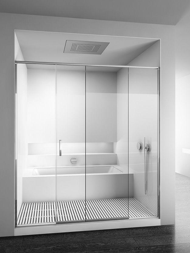 Oltre 1000 idee su bagno doccia su pinterest bagno - Box doccia su vasca bagno ...