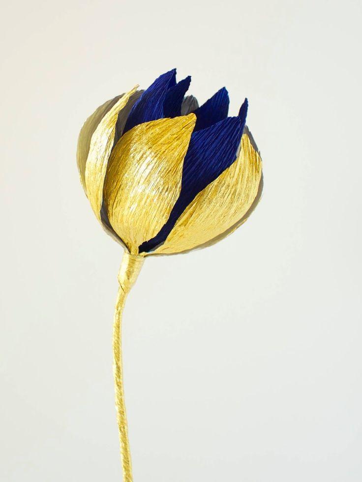 crepe paper waterlily bud http://papetal.blogspot.com.au/p/flowers_13.html