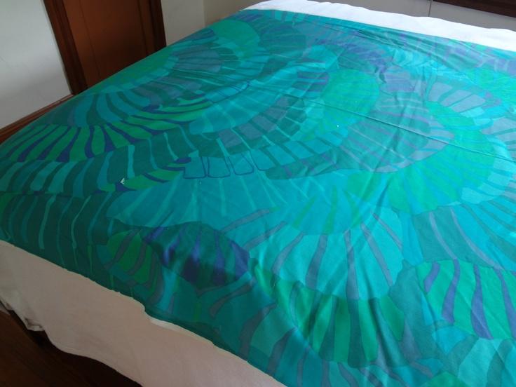 Vintage Marimekko fabric blue yardage. $187.00, via Etsy.
