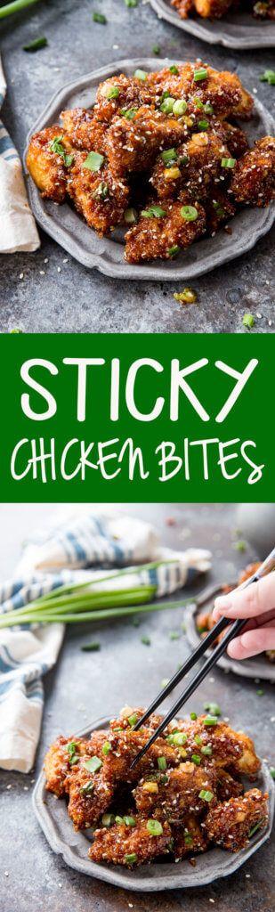 Sticky Chicken Bites are absolutely tasty bites of yummy goodness!