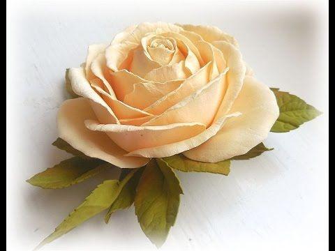 МК Роза из фоамирана своими руками. Foam Rose flowers Hand Made - https://www.youtube.com/watch?v=mP0Obw_xzI4