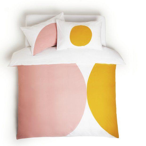 Buy Habitat Esme Pink On White Bedding Set Superking Duvet Cover Sets Argos In 2021 White Bed Set White Bedding King Size Duvet