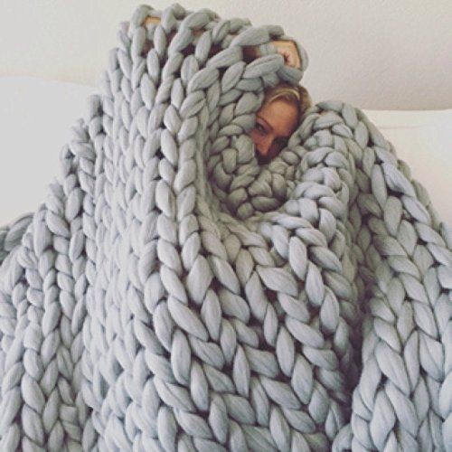 Chunky blanket Big knit throw Giant blanket Giant yarn blanket Quilt Super big Chunky rug King Size blanket Cheap SALE Mother's day present. Ordering this you will get KING SIZE GIANT KNIT BLANKET ! King size blanket for very low price! How is awesome to get amazing thing for your home across the ocean from small country named Lithuania. Lithuania is very beautiful, we have Baltic sea, here lives 3 million people. And one of them is making blanket for you! Far far away like on a…