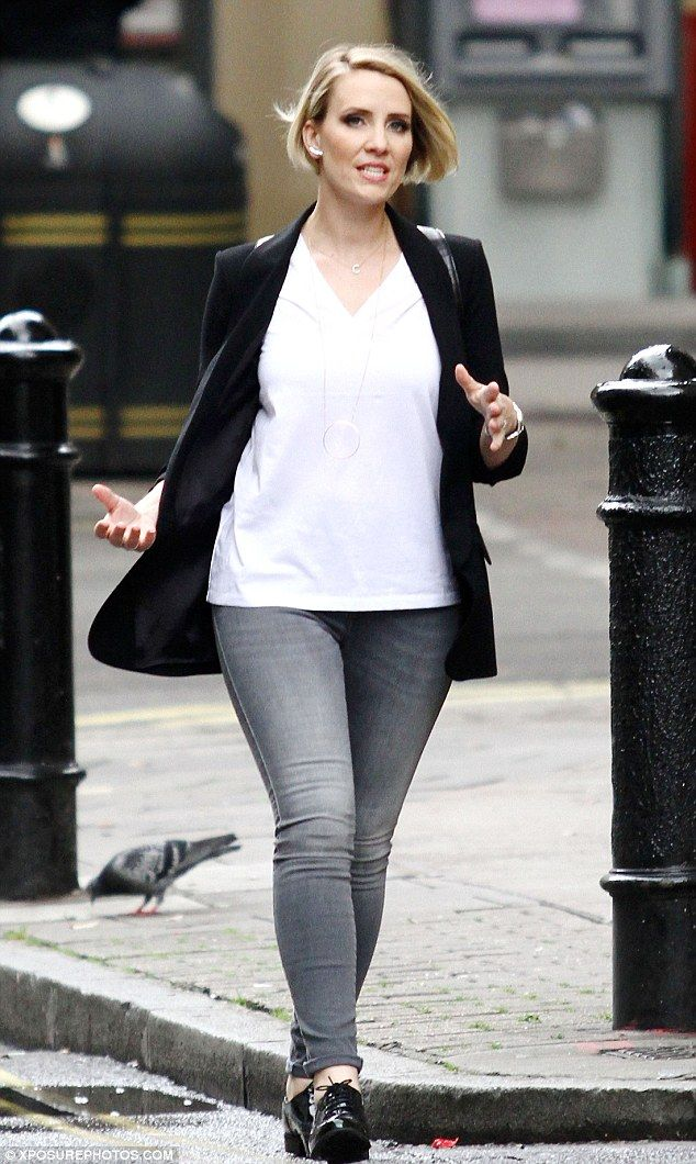 Slender shape: Claire Richards from Steps flaunted her weight loss this week as she took a stroll around West London