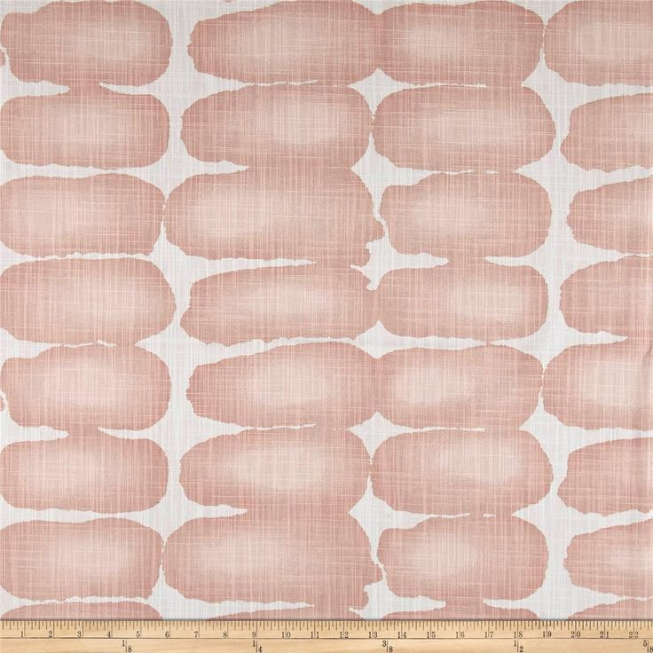 Ordered - Shibori Dot Blush.  Screen printed on cotton duck; versatile, medium weight fabric. Colours include white and shades of pink.