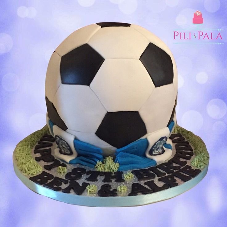 3D football cake for a Cardiff City fan