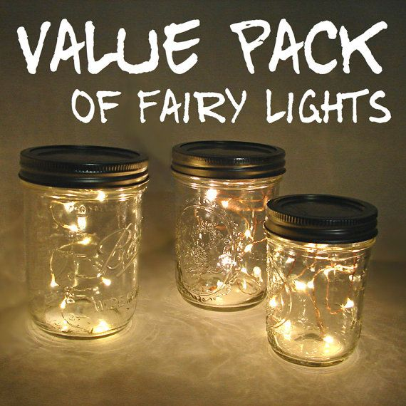 VALUE PACK Fairy Lights For Mason Jars And Centerpieces