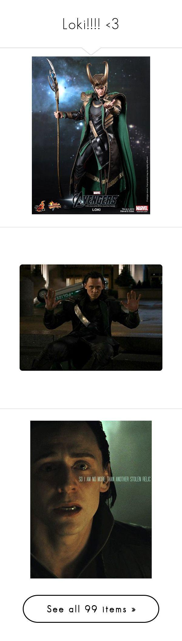"""Loki!!!! <3"" by demondog ❤ liked on Polyvore featuring loki, avengers, images, pictures, tom hiddleston, marvel, loki & thor, thor, the avengers and people"