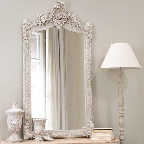 Specchio in resina grigio H 153 cm CONSERVATOIRE