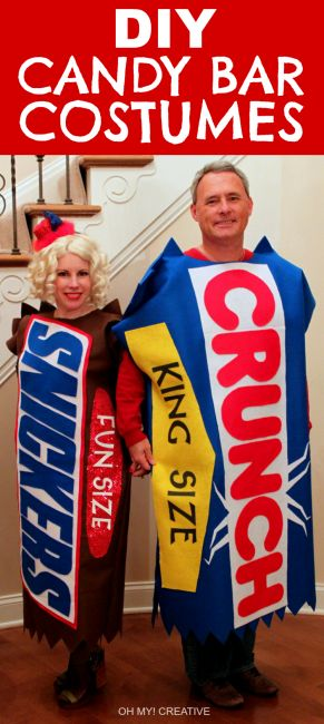 DIY Candy Bar Halloween Costumes                                                                                                                                                                                 More